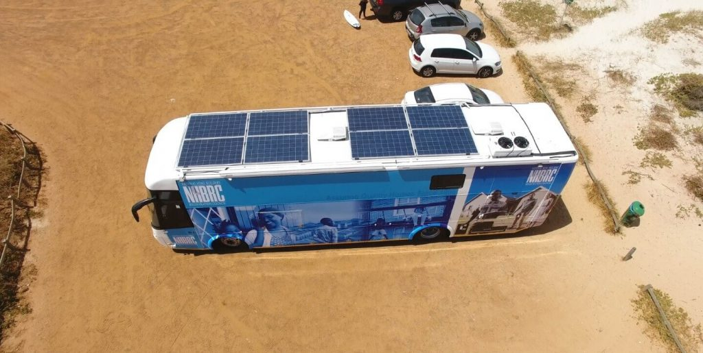 NHBRC mobile solar solutions from above