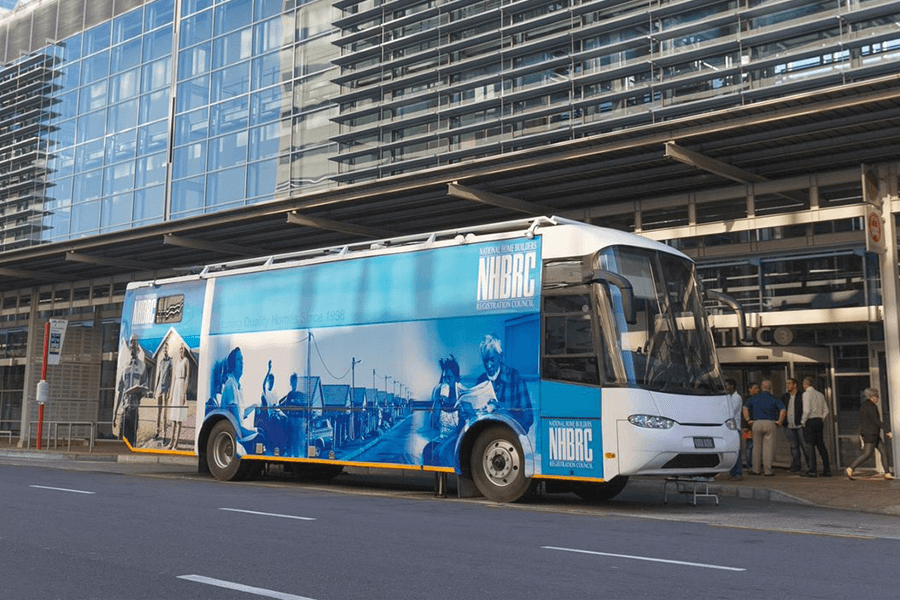 NHBRC mobile office outside cticc